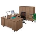 Right L-Desk with File Set, 15257
