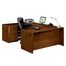 U Shaped Desks Shop Wrap Around Desks With Desk Hutch