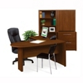 Conference L-Shape Desk with Storage and File Cabinets, 15315