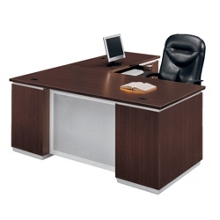 L-Desk with Right Return - Fully Assembled, 15457