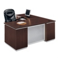 L-Desk with Left Return - Fully Assembled, 15458
