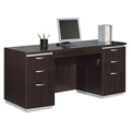 Kneespace Credenza with Flat Ends, 15461