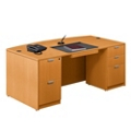 """Contemporary Bow Front Desk - 71"""" x 42"""", 15774"""