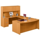 Bow Front U Desk and Hutch, 15778