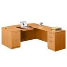 Bow Front L-Desk, 15779