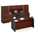 Executive  Desk & Credenza Wall, 15802