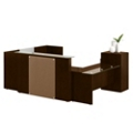 Laminate Reception U-Desk with Right Return, 15841
