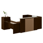 Laminate Reception U-Desk with Left Return, 15842