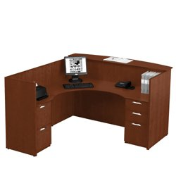 reception l desk with left return 15891 and more office