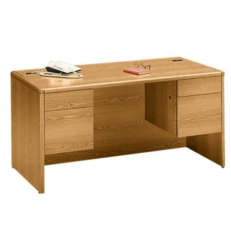 "60"" Wide Double Pedestal Desk, 15919"