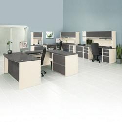 Three Person Work Station Executive Set, 13984