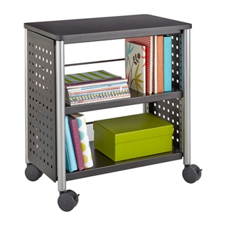 "Mobile Two Shelf Bookcase - 27""H, 32072"