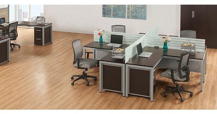 1 Desk 3 Ways: The At Work L-Shaped Desk | NBF Blog