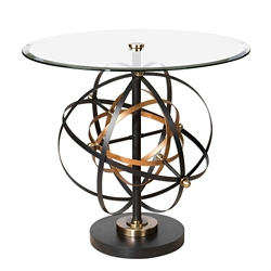 "Glass Top Orbital Accent Table - 31.5""W, 46244"