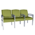 Trados Metal Frame Three Ganged Guest Chairs, 25074