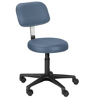 Legacy Height Adjustable Doctors Stool with Back Rest, 25078