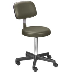 Legacy Stool with Back and Threaded Stem Height Adjustment