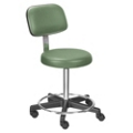 Stool with Adjustable Height and Foot Ring, 25084