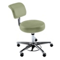 KI Medical Stool with Back, 25165