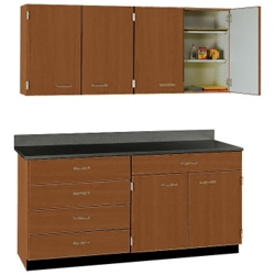 """Five Drawer, Six Door Wall and Base Cabinet Set - 60""""W, 25209"""
