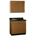 """Cabinet with Left Hand Sink and Wall Cabinet - 36""""W, 25210"""