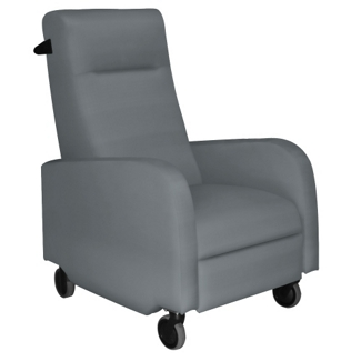 Haley Patient Recliner with Black Finish Push Bar in Vinyl, 25326