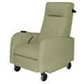 Mobile Battery Motor Assist Patient Recliner with Black Pushbar in Vinyl, 25340
