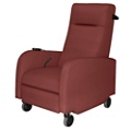 Mobile Motor Assisted Patient Recliner with Black Pushbar in Vinyl, 25328