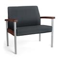 Metal Legged Vinyl Bariatric Guest Chair , 25595