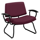 Orleans Bariatric Chair with Poly Arms in Solid Fabric, 25610