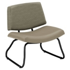 Orleans Bariatric Armless Chair in Vinyl or Combination Upholstery, 25618