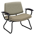 Orleans Bariatric Chair with Poly Arms in Vinyl or Combination Upholstery, 25619