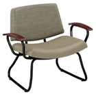 Orleans Bariatric Chair with Wood Arms in Vinyl or Combination Upholstery, 25620