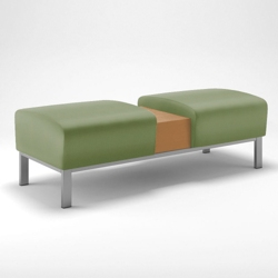 Foster Two Seat Bench with Table, 25715