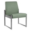 Armless Behavioral Health Heavy-Duty Vinyl Chair with Weighted Seat Pan, 25743