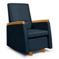 Flexsteel Glider Chair with Wood Arm Caps, 25770
