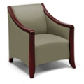 Flexsteel Lounge Chair with Wood Frame, 25776