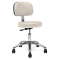 Physician Stool with Back Rest, 25892