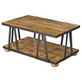"Solid Wood Coffee Table with Metal Frame - 44.5""W, 46247"