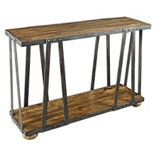 """Solid Wood Console Table with Metal Frame - 48.5""""W, 46248"""