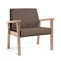 Wood Legged Vinyl Bariatric Guest Chair , 25950