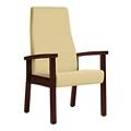 Wood Legged Vinyl High-Back Guest Chair , 25951