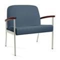 "Wood Arm Vinyl Bariatric Guest Chair - 31""W Seat, 26049"