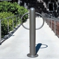 "In-Ground Mount Bike Bollard - 3'H x 6""Dia, 82426"