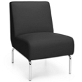 Modular Armless Polyurethane Lounge Chair with Chrome Legs, 75769