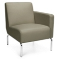 Modular Left Arm Polyurethane Lounge Chair with Chrome Legs, 75770