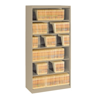 Six Shelf Open Lateral File Shelving Unit, 30060