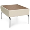 Modular Laminate Top Table with Polyurethane Sides and Chrome Legs, 75777