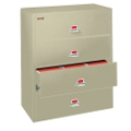 "Four Drawer Fireproof Lateral File - 44""W, 30167"