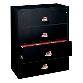 "Four Drawer Fireproof Lateral File - 31"" W, 30420"